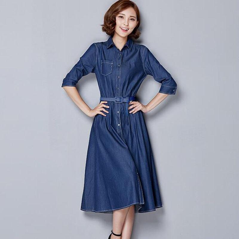 Dressing Gowns For Women: ZYFPGS Summer Dress Denim Dress Maxi Casual Dresses Women