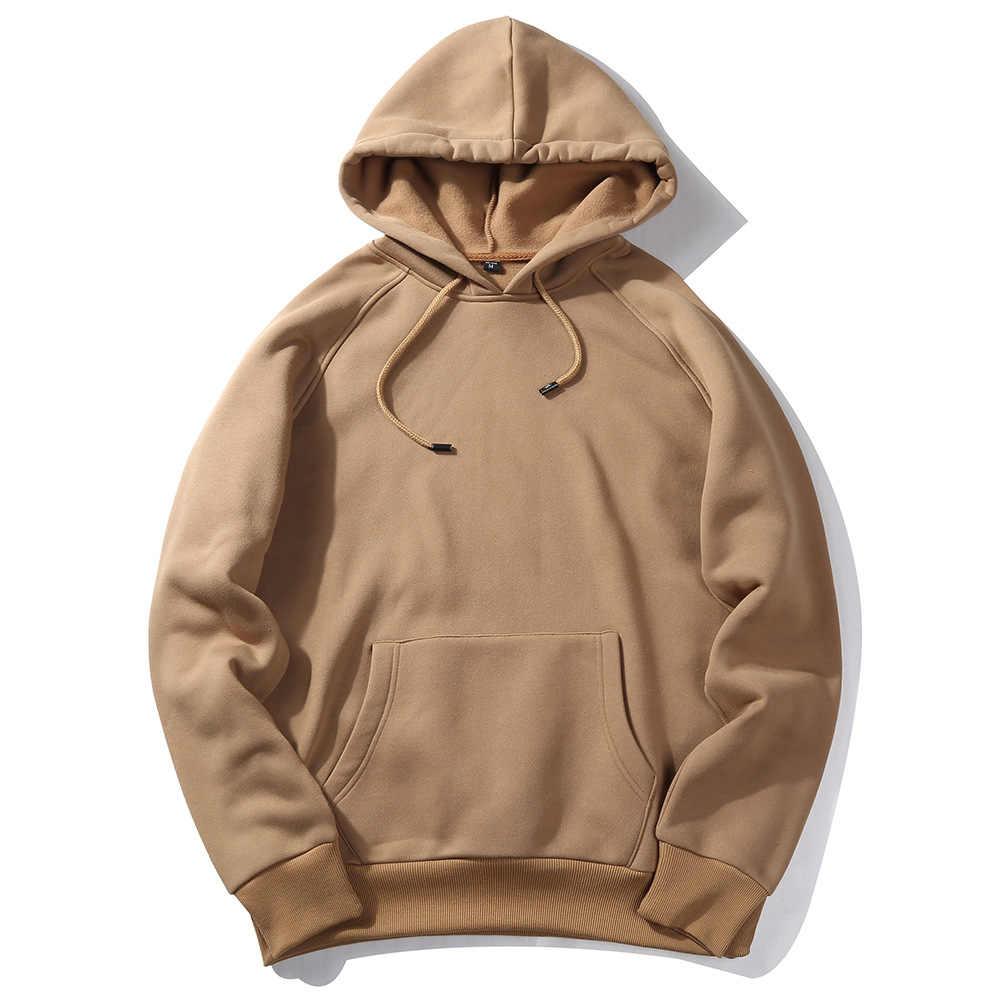 Casual Armygreen สีดำสีกากี Hoodie Hip Hop Street สวมเสื้อสเก็ตบอร์ดผู้ชาย Pullover Hoodie ชายหลวมสีทึบ Hoodie