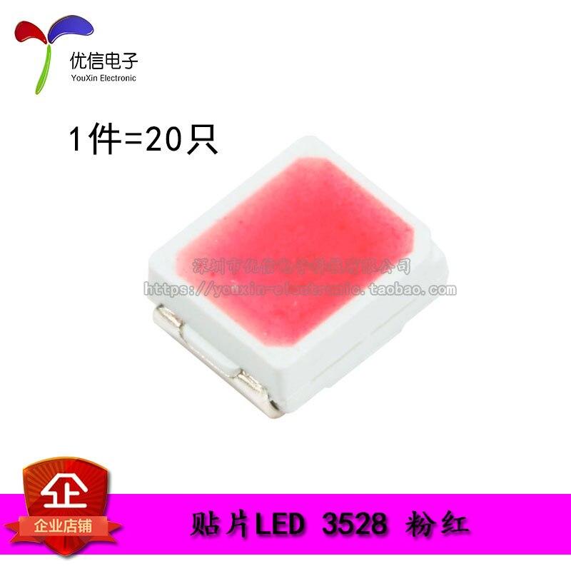 3528/1210 SMD LED Pink Highlight LED LED Light Pink Light (20pcs/lot)