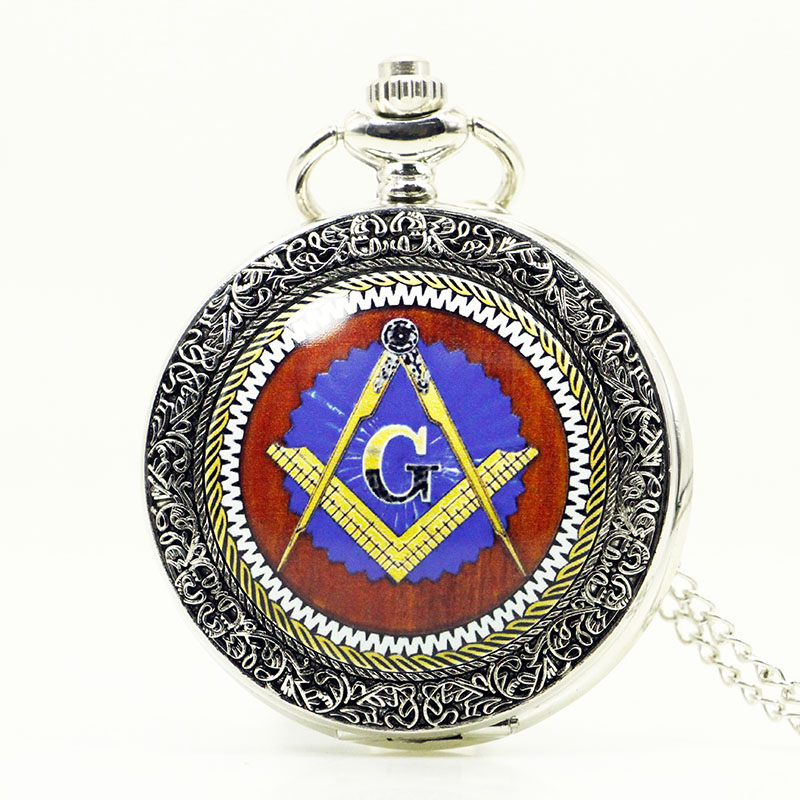 Vintage Pattern Quartz Pocket Watch Masonic Freemason Men Women Pocket Watch Analog Pendant Best Gifts Relogio Feminino