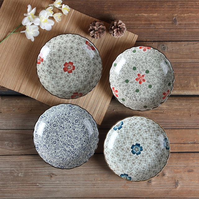 Hot Sale Sushi Plate 8 Inch Ceramic Plates Buffet Dishes Handpainted Utensils Dinnerware Accessories Set For : buffet dinnerware - Pezcame.Com