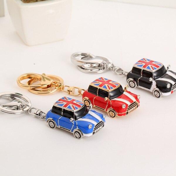 Classic American Flag Mini Cooper Super Cool Car Keychains Festival