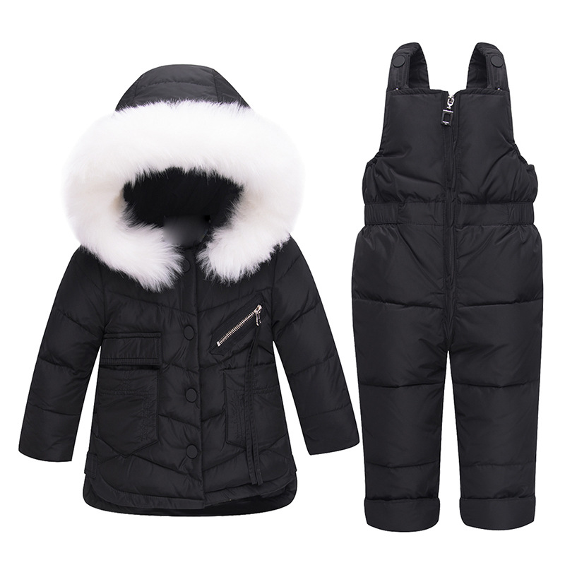 38b6182fa 12M-4T 2018 Winter Kids Clothing Set Baby Girl Winter Jumpsuit Down ...