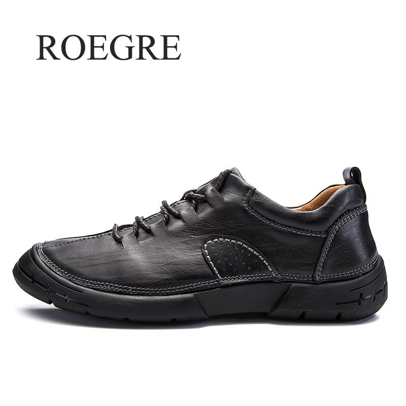 ROEGRE Brand Men's Shoes Leather Men Loafers Autumn Comfortable Casual Shoes Men Loafers Luxury Flats Shoes Men Chaussure fashion casual driving shoes genuine leather loafers men shoes 2016 new men loafers luxury brand flats shoes men chaussure page 5