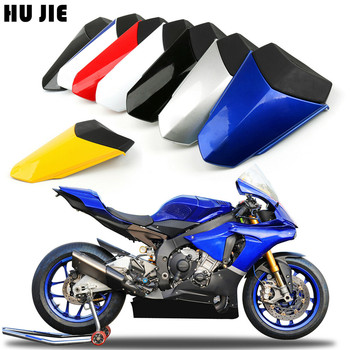 For YAMAHA YZF-R1 YZF R1 2015 2016 2017 2018 Motorcycle Blue Red Black Rear Pillion Seat Cowl Cover ljbkoall white red black tail rear cowl cover fairing seat cover pillion for ducati 899 1199 panigale 2012 2013 2014 2015