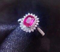 Real 18K White Gold 100% Natural Unheat 1.08ct Pink Padparadscha Sapphire Gemstones Sapphire Diamonds Female Rings