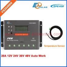 PWM ViewStar series controller off-grid solar panels system VS2048BN with temperature sensor 20A controller 12V 48V 24V