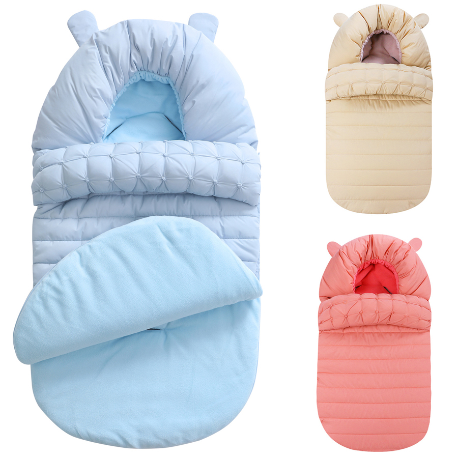Baby Sleeping Bag Winter Envelope For Newborns Sleep Thermal Sack Cotton Kids Sleep Sack In The Carriage Schlafsack DS19