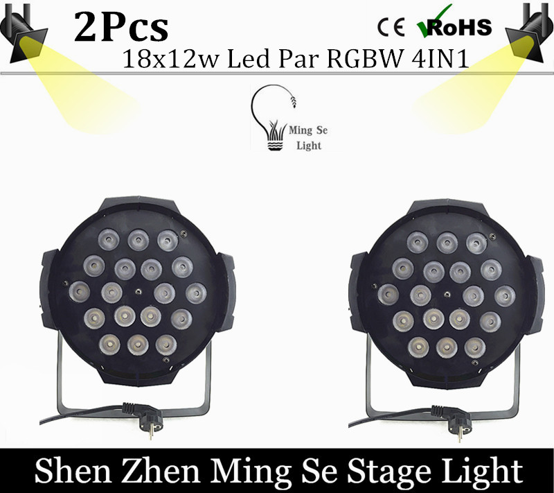 2pcs /lots 18x12w led Par lights RGBW 4in1led dmx512 disco lights professional stage dj equipment fast russia shipping 7x12w led par lights rgbw 4in1 flat par led dmx512 disco lights professional stage dj equipment
