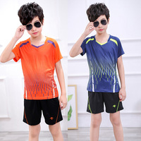 New Kid Tennis Shirt Shorts , Boys badminton sets , tenis masculino Ping Pong Suit , Tennis Child , Fitness Spots Training suit