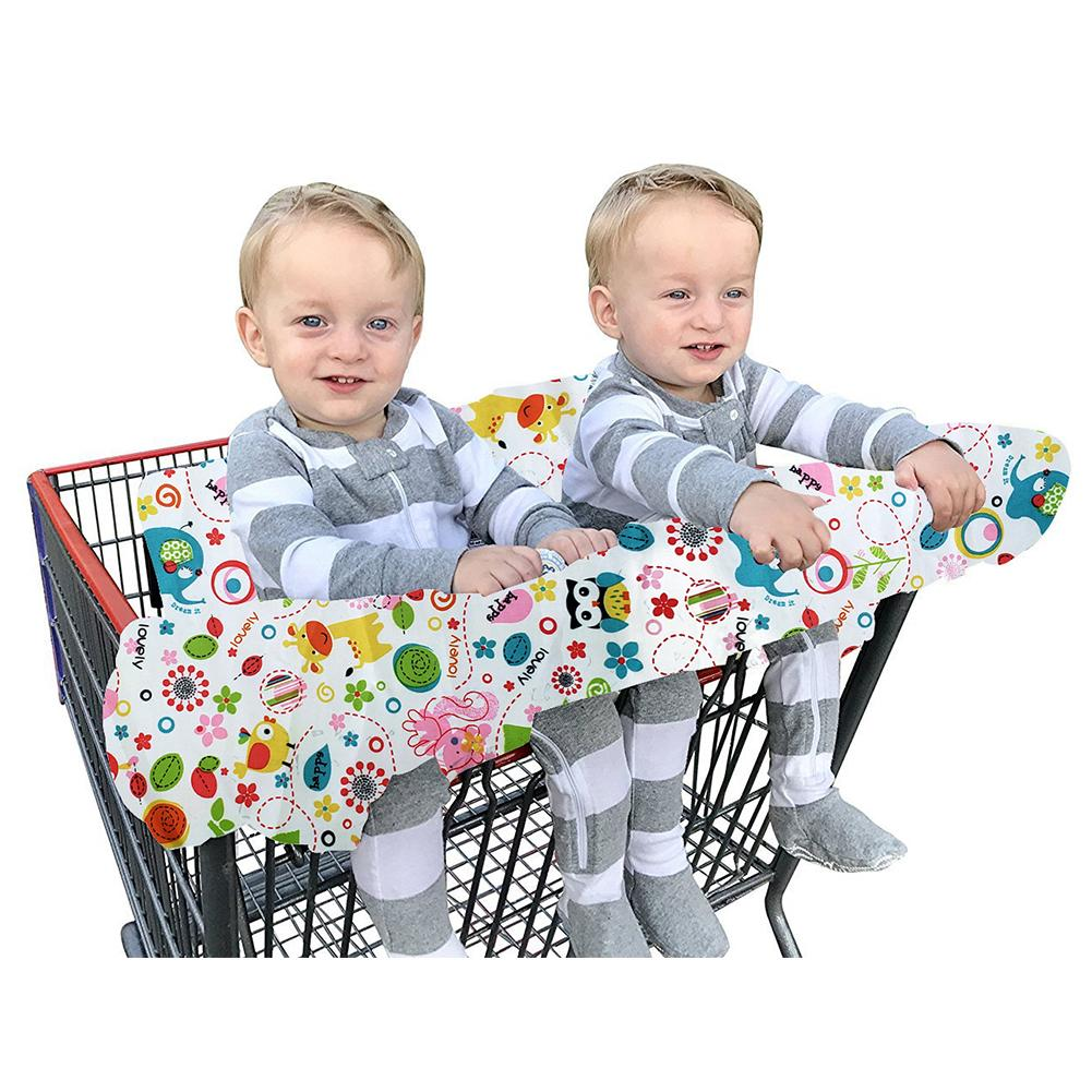 Us 17 32 33 Off Baby Kids Double Shopping Cart Cover High Chair Cover For Toddler Cover Restaurant Highchair Baby Chair Seat Mat In Shopping Cart