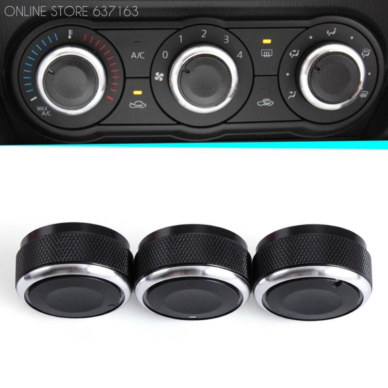 Регулятор температуры воздуха в автомобиле, регулятор кондиционера, 3 шт. в комплекте, для стайлинга автомобиля Mazda3 2004 2009 switch board panel switch panel designswitch life   АлиЭкспресс