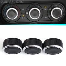Регулятор температуры воздуха в автомобиле, регулятор кондиционера, 3 шт. в комплекте, для стайлинга автомобиля Mazda3 2004-2009