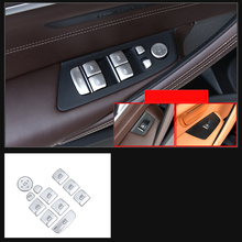 lsrtw2017 pearl chrome abs car window control buttons trims for bmw 5 series g30 g31 525 520 530 528 540 535 2018 2019