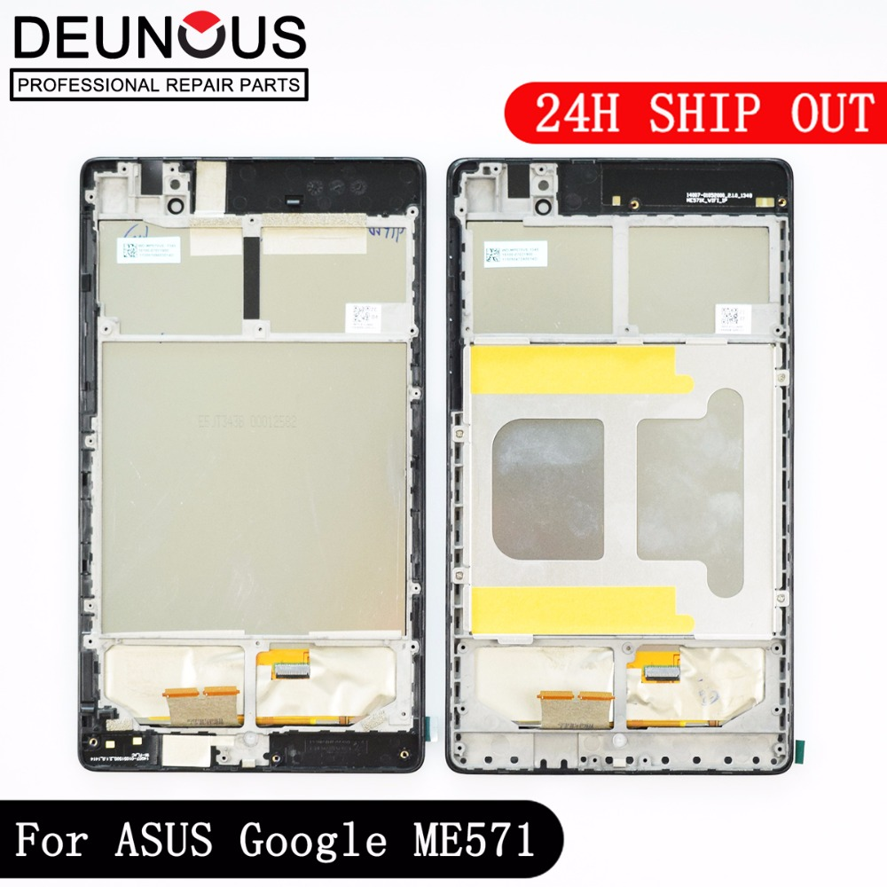 LCD Display +Touch Screen Digitizer with FRAME For ASUS Google Nexus 7 II 2nd 2013 ME571KL K009 Nexus7C LTE/4G/3G LCD Assembly new original lcd touch screen digitizer with frame for 2013 asus google nexus7 fhd 2nd gen k008 me571 lte 3g free shipping