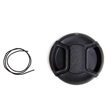 1Pc New 58 mm Center Pinch Snap on Front Lens Cap for Canon Sony With String(China)
