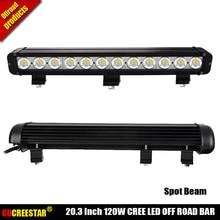 120 W Led off road luzes Promoção 24 v truck led light bar 120 W bar 4×4 offroad levou luzes de trabalho Carro x1pc atacado levou bar