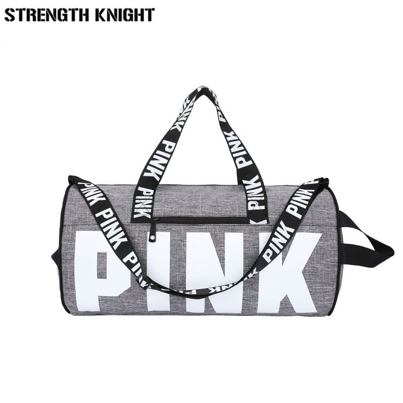 2019 Women Travel Duffle Fashion Pink Letter Handbags Large Capacity Travel Totes Waterproof Beach Bag Shoulder Bag