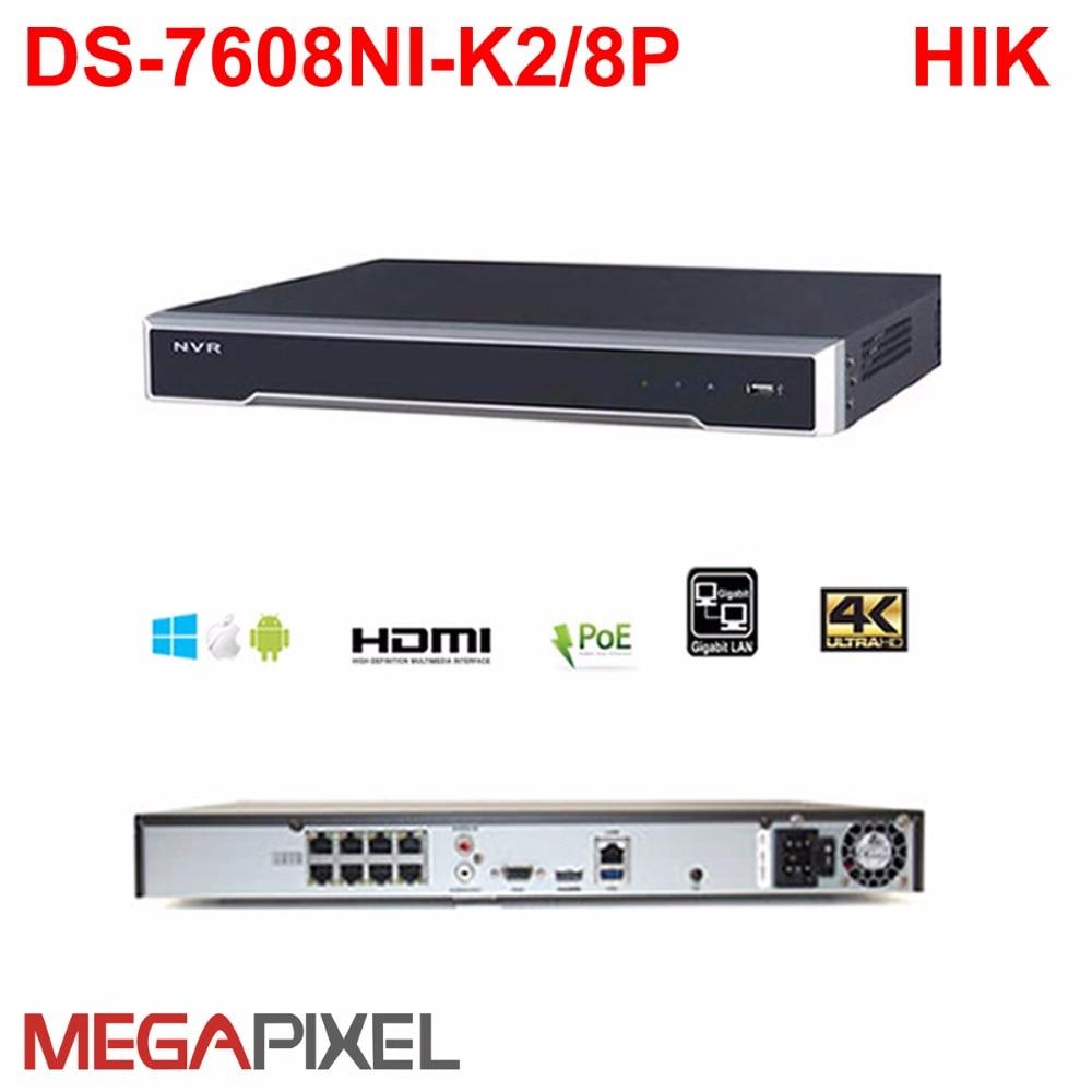 Hikvision H.265 8mp NVR DVR netzwerk video recorder DS-7616NI-K2/16 P 4 karat PoE Camcorder cctv videoüberwachung system hik-verbinden