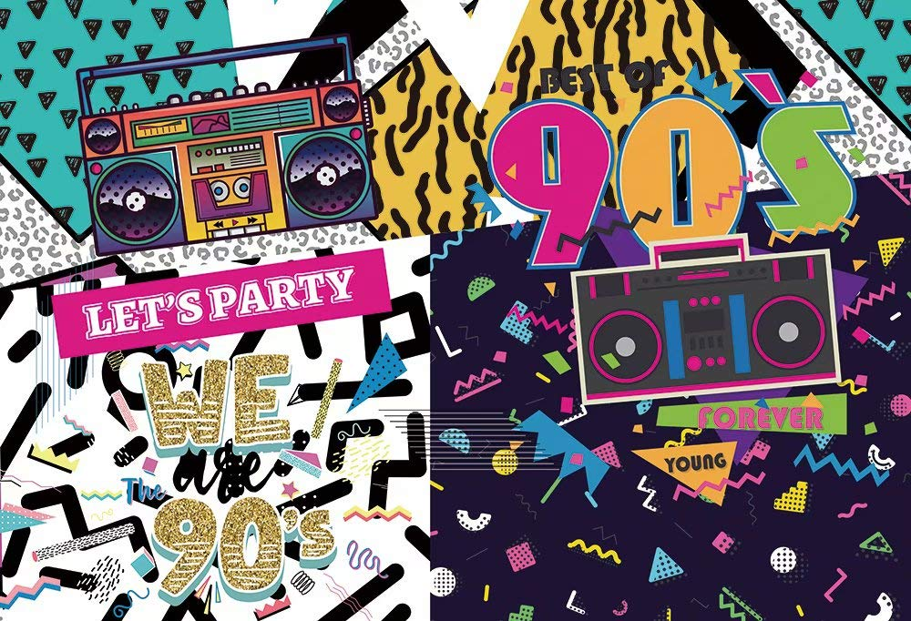 HUAYI 90s вечерние фон для хип-хоп Рок музыка диско танцы Красочные День рождения события украшения для баннеров фото фон W-2189