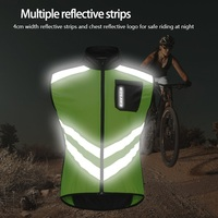 WOSAWE Reflective Cycling Jacket Sleeveless Jersey Windproof Breathable Safety Vest Jacket Wear