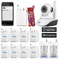 Wireless Wifi Camera alarm system Onvif Video Home Security Wifi Network Alarm System Camera Infrared PIR+water leak