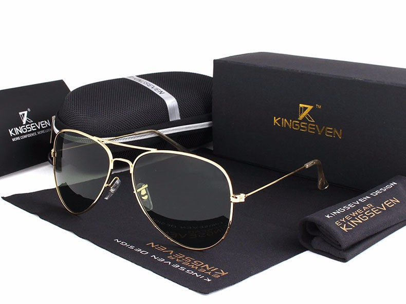 58mm Retro Sunglasses Women Kingseven Luxury Brand Female Sun glasses For Women 16 Fashion Oculos Designer Shades Unisex 3025 8