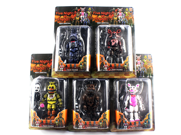 6 Pcs/set Lightening Movable joints Five Nights At Freddy's Action Figure Toys Foxy Freddy Chica PVC Model Dolls With kids toys цена