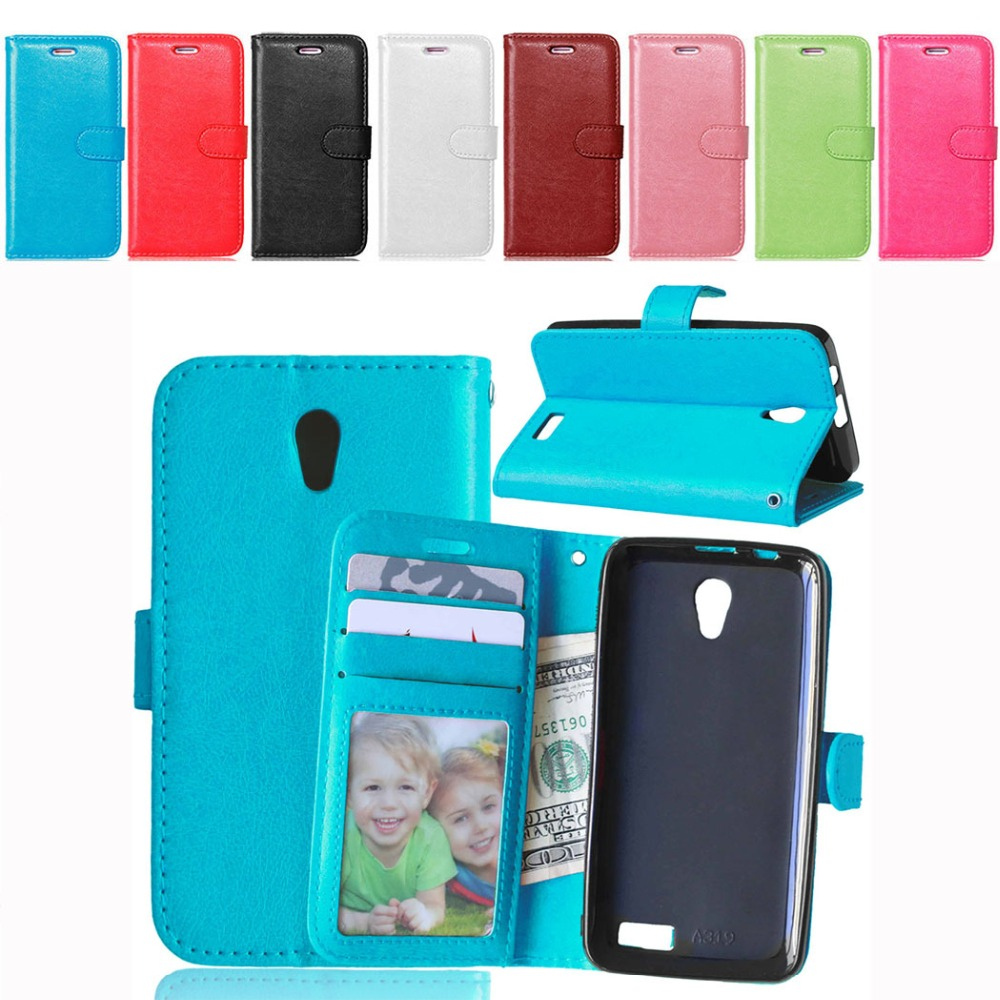 For Lenovo A319 Case Wallet Style PU Leather Case for