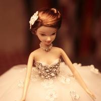 D0379 Best girl gift 50cm Kurhn Princess Doll with large wedding dress Gift Luxury Dress set handemade Romantic Bride