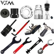 цена Hot selling bicycle repair tool flywheel remover socket bottom bracket removing socket tool chain cutter crank removing tool онлайн в 2017 году
