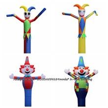 3D 13ftสำหรับ45ซม.Blowe Air Sky Dancer Inflatable Tube Clownเต้นรำหุ่นลมโฆษณาทำให้พองBouncyปราสาท