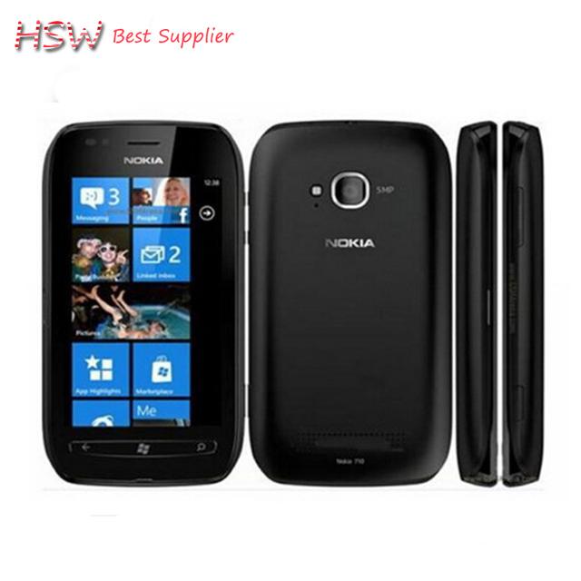 Reformado Lumia 710 Nokia Sabre WIFI 3G GPS 5MP 3.7 ''Pantalla Táctil 8 GB de almacenamiento Interno Abrió El Teléfono móvil
