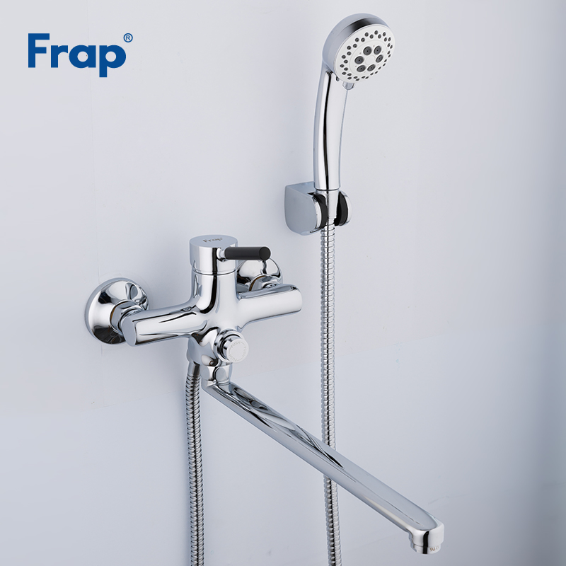 Frap New Bathroom Faucet Bathroom Shower Faucets Bath Tap Bath Mixer Shower System Cold and Hot Shower with Mixer Taps F2244 stylish rhinestones faux pearl lace flower shape embellished baseball cap for women