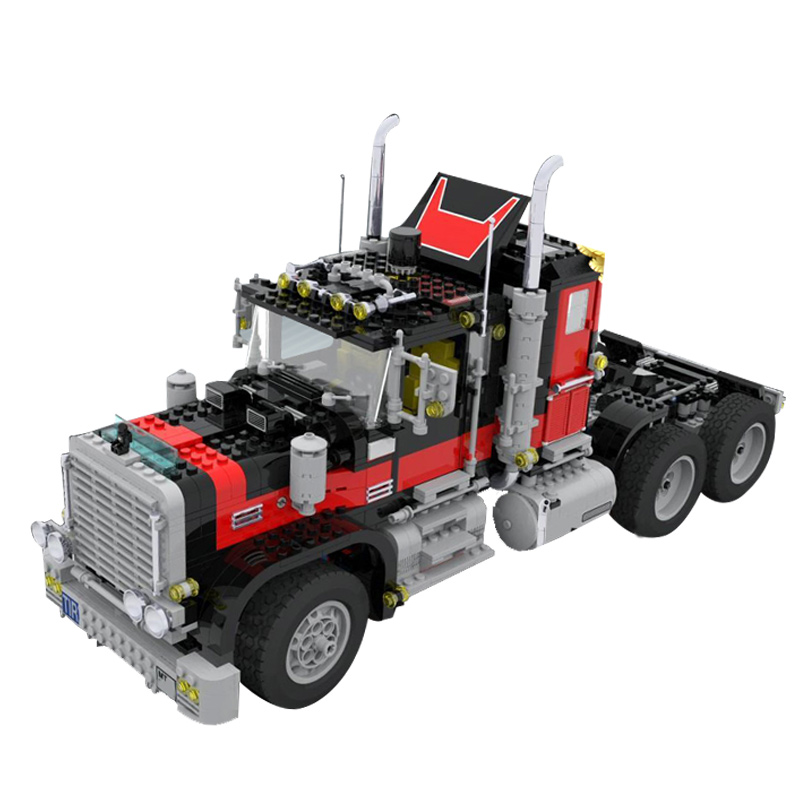 Lepin 21015 1743Pcs Technic Series The American Black Cat Truck Set Building Blocks Bricks Kids Toys For Gift 5571 lps pet shop toys rare black little cat blue eyes animal models patrulla canina action figures kids toys gift cat free shipping