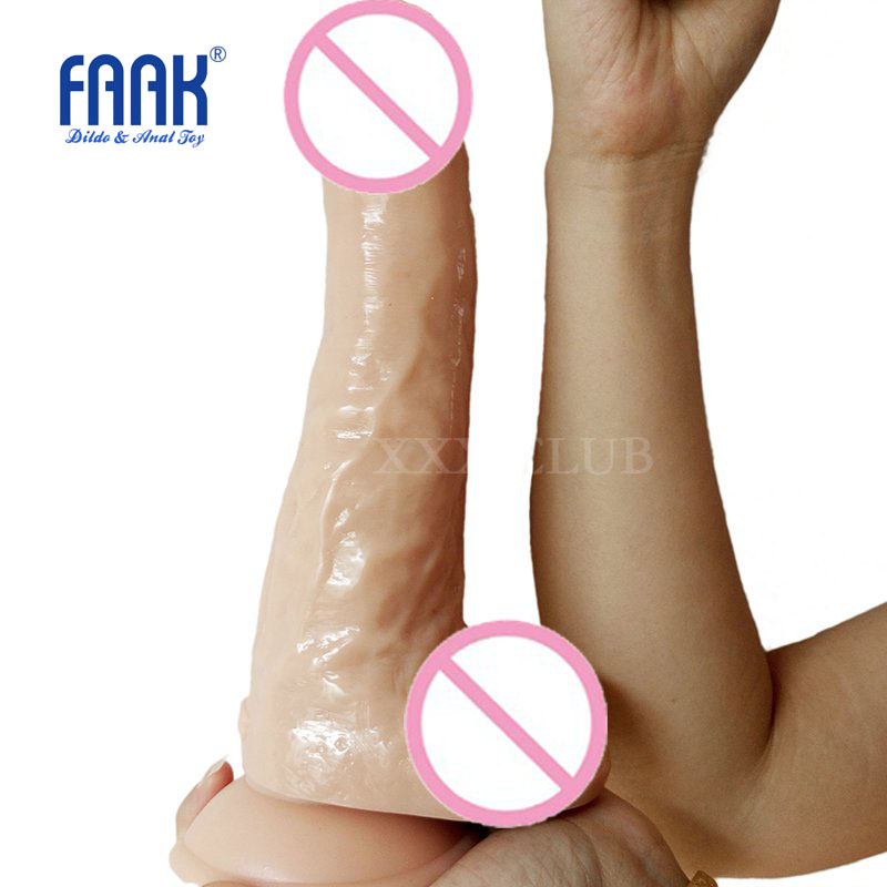 FAAK 24*5.6cm Super Huge Dildo Realistic Penis with Suction Cup Sex Toys for Woman Sex Item Big Dick Dong Horse Dildo faak 42 realistic super big dildo flexible penis dick with strong suction cup huge dong female dick big penis adult sex toy