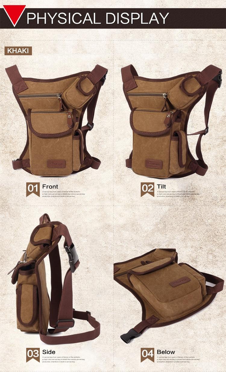 Trgovina na debelo moške pasu torbice vintage platnene - Torbice - Fotografija 6