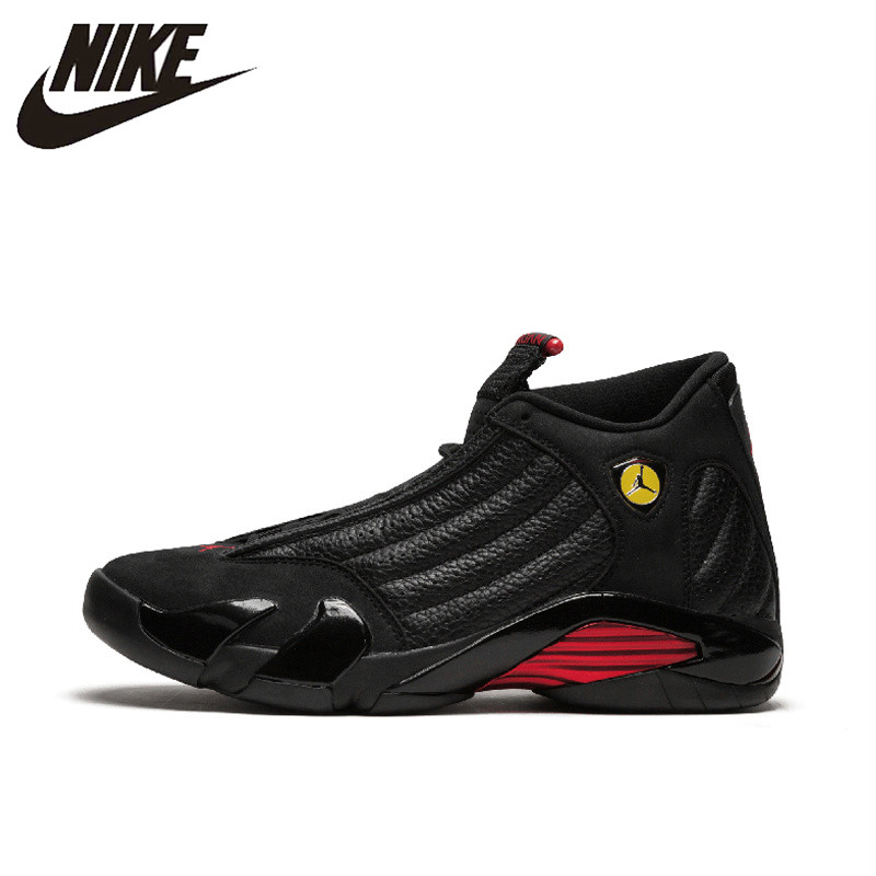 huge selection of 55720 525a4 US $156.78 30% OFF|NIKE Air Jordan 14 Retro Mens Basketball Shoes Sport  Outdoor Sneakers Top Quality Athletic Designer Footwear 2018 New 487471  003-in ...