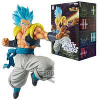 Banpresto Anime Dragon Ball Z DBZ Super Saiyan Blue Goku Vegeta in Gogeta VS Broli PVC Model Toys 22cm