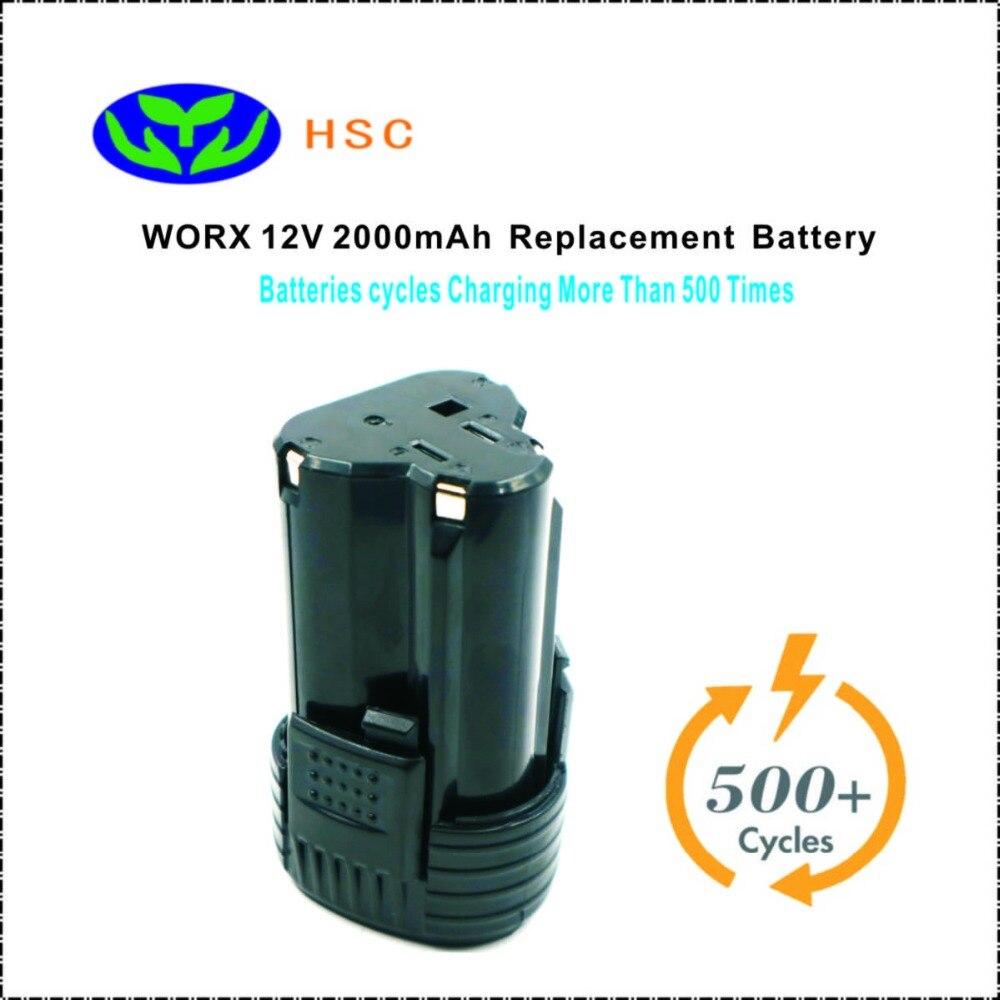 WOX12A 2000mAh 12V Li ion Battery Replacement WU127 WX6777 WX3827 Original Battery