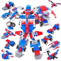 267pcs 10in1 Legoinglys Technic Transformation Optimus Transform Prime Robot Car Big Truck Blocks Models Building Toys For Kids