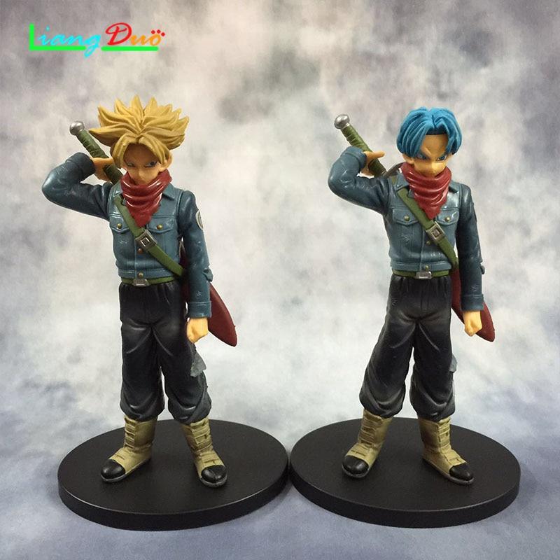 17cm Dragon Ball Super playmobil cuadro de Trunks Anime Action Figure PVC Model plastic hot toys collectibles for children
