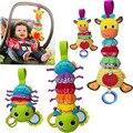 Kawaii Animais Bonecas Brinquedos de Pelúcia Infantil Bed & Carrinho de Bebê Pendurado Sino Berço Chocalho Brinquedos Com Guta-Percha Trecho crianças Brinquedo