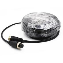Car Bus Monitor Camera Male to Female 4 Pin Video Power Extension Cable 15M