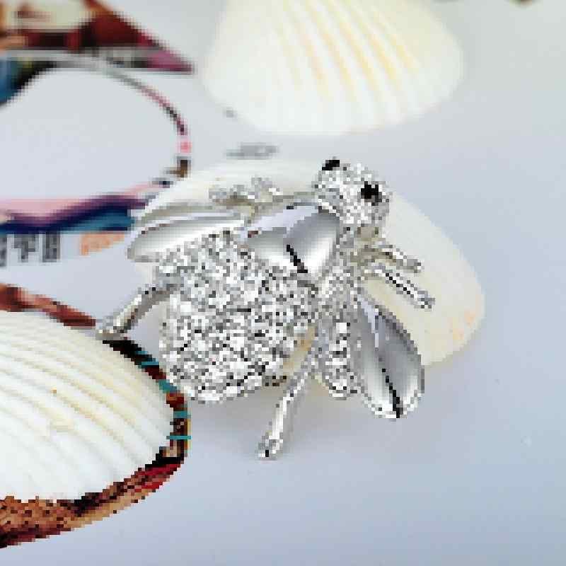Europee E Americane Grande Cute Bee Spilla CZ Spilla Pin Collare Cardigan Vestito Femminile Gioielli Spille Per Bouquet Da Sposa