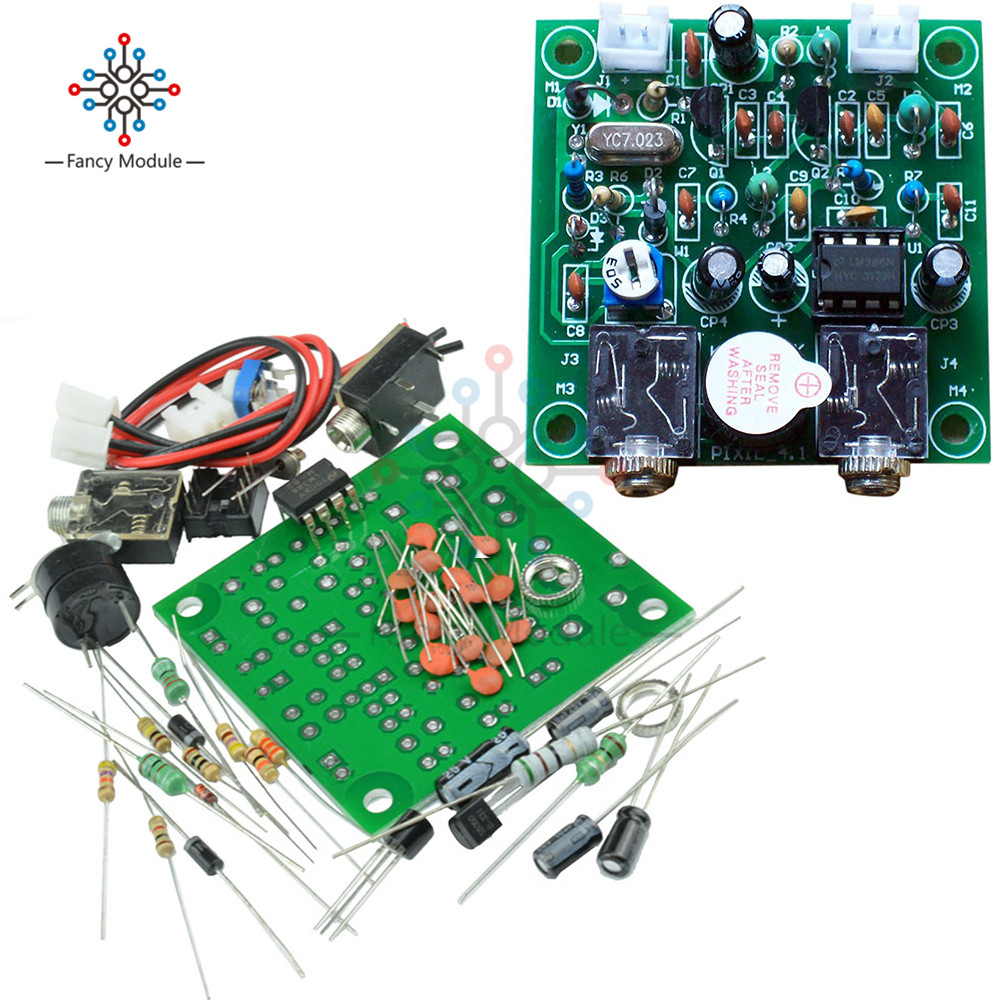 12v power ham radio 40m cw shortwave qrp pixie transmitter receiver module 7 023mhz 7 026 [ 1000 x 1000 Pixel ]