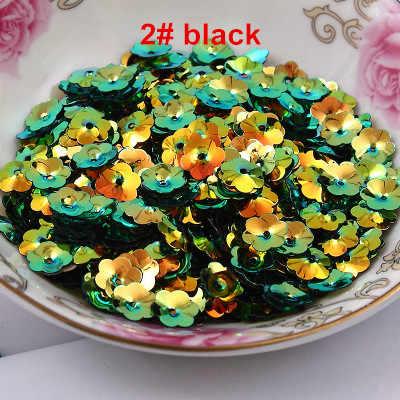 50 g/grup PVC payetler 4mm 5mm çiçek 1 merkez delikli erik çiçeği bardak gevşek payetler 14 AB altın parlak renkler mevcut