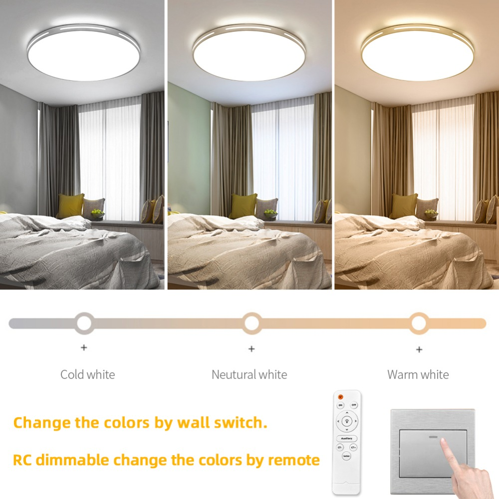 Modern LED Ceiling Light Simple Decoration Fixtures for Study Dining Room Bedroom Living Room Balcony Ceiling Modern LED Ceiling Light Simple Decoration Fixtures for Study Dining Room Bedroom Living Room Balcony Ceiling Lamp AC110v 220v