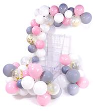 METABLE 100 pcs 10 Inch Gray Balloons Grey Baby Pink White Gold Confetti for Party, Wedding