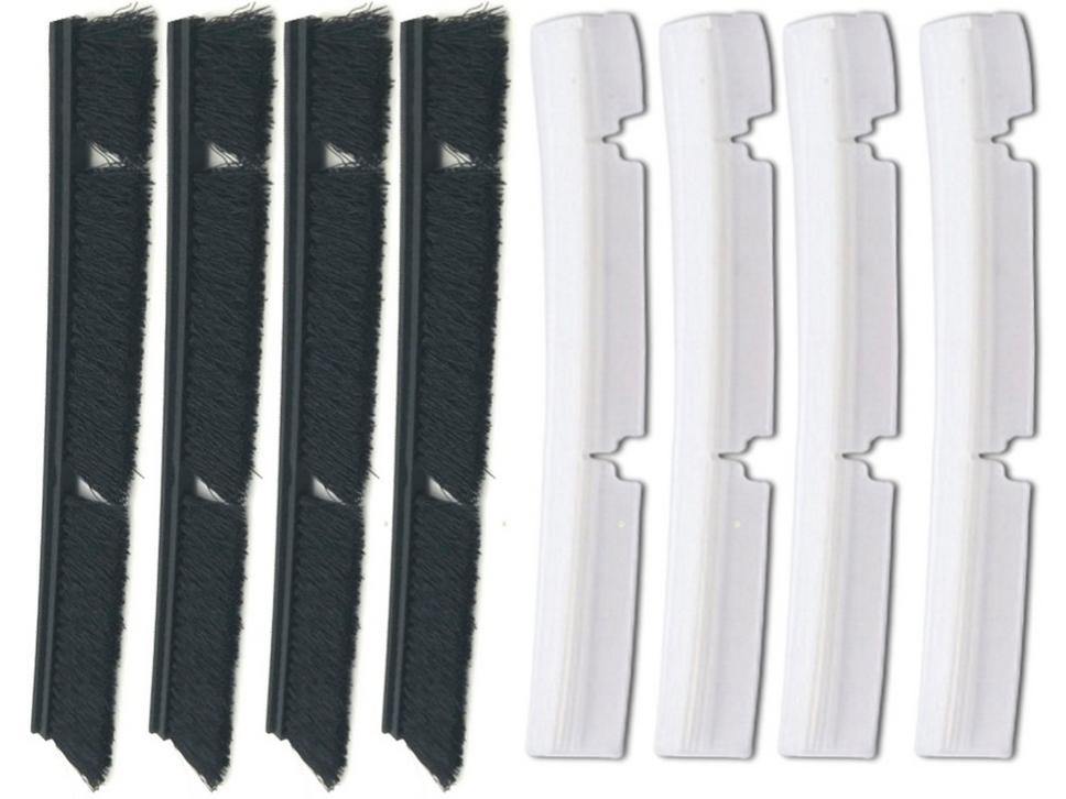 4 x Silicone Blades + 4 x Brushes for Neato Botvac Connected Combo Brush 70 D75 D80 D85 Replacement перчатки рабочие archimedes stabi 91894